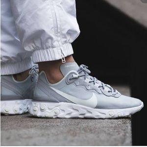 NWT Nike React Element 55 Wolf Grey Aqua W AUTHENT